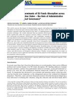 Evaluarea determinantilor absorbției fondurilor europene in noile si vechile state membre ale UE - Rolul capacitatii administrative si al guvernanei politice