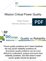 Whatever happened to Mission Critical Power Quality