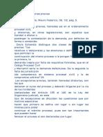 investigación, sobre las Excepciones Perentorias y las Excepciones Previas