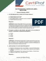 Formato de examen Scrum Master - 1