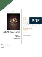 IPL Project (1) Legal Issues of Talaq.docx