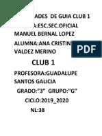 ACTIVIDADES  DE GUIA CLUB 1