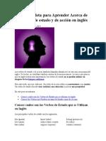 Guía Completa para Aprender Acerca de los Verbos de estado y de acción en inglés