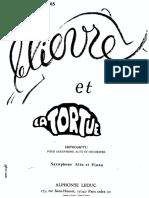 Le Lièvre et la Tortue – Saxophone Alto – Pierre Max Dubois(2)