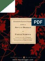 TwentyLovePoemsAndASongOfDespair PabloNeruda Neruda 20 Love Poems