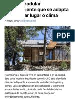 La casa modular autosuficiente que se adapta a cualquier lugar o clima