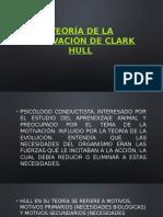 TEORÍA DE LA MOTIVACIÓN DE CLARK HULL
