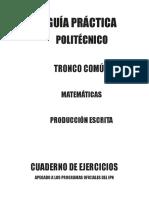 POLITECNICO C. EJERCICIOS MATERIAS ACADEMICAS DE TRONCO COMÚN