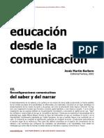 barbero-La Educación desde la Comunicacióm