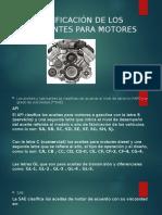 CLASIFICACIÓN DE LOS LUBRICANTES PARA MOTORES
