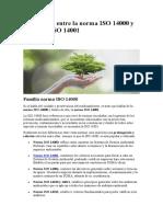 4 Diferencias entre la norma ISO 14000 y la norma ISO 14001