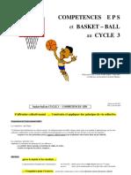 COMPETENCES E P S et BASKET BALL au CYCLE 3. R.Reynaud CPC. LYON PART-DIEU mai 2003 en référence au document d'antoine Muguet (1)