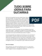 ESTUDIO SOBRE MADERAS PARA GUITARRAS