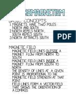 Electromagnetism Notes