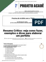 Resumo Crítico_