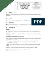 DO-097-01 Procedimiento Operativo para Soplado