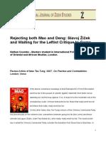 Rethinking Both Mao and Deng