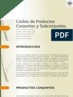 Costos de Productos Conjuntos y Subconjuntos