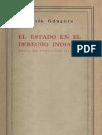 El estado en el derecho indiano, Mario Gongora.pdf