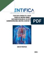 2020-I Guía de prácticas Morfofisiología de los sistemas Cardiorrespiratorio, Digestivo, E