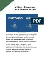 DIPTONGO - TRIPTONGO - HIATO