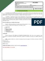 AVALIAÇÃO DA ENGENARIA DE AQUICULTURA SEMESTRE 2019 PDF