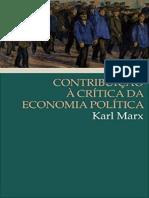 Contribuição à Crítica Da Economia Política - Karl Marx