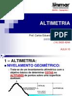 200784-TOPOGRAFIA I - AULA 10 - Altimetria 1-2 (1)