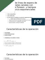 Modelo de línea de espera de múltiples canales (2)