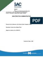 Informe de Práctica Administrativa Sandra Beteta