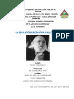 Educación Libertadora. Paulo Freire.docx