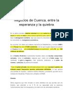 Negocios de Cuenca, entre la esperanza y la quiebra
