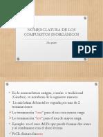 NOMENCLATURA DE LOS COMPUESTOS INORGÁNICOS I PAC 2020 2da parte (1) (1)