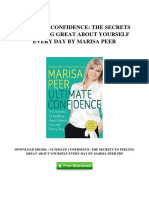 [C242.Ebook] Free PDF Ultimate Confidence The Secrets To Feeling Great About Yourself Every Day By Marisa Peer