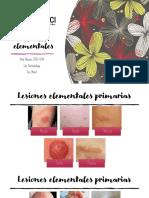 Lesiones elementales perimarias y secundarias