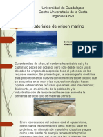 Materiales de origen marino