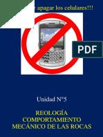 Unidad 5 Reología, Comportamiento Mecánico de Rocas