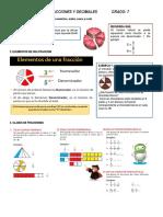 GUIA 3. FRACCIONES Y DECIMALES (7°)