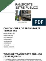 Transporte  terrestre publico
