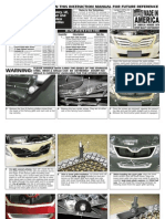 2010 Up Toyota Camry Grille Installation Manual Carid