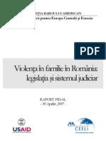 a Privind Violenta Domestica in Romania