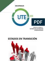 ESTADO DE TRANSICIÓN y sistemas legales