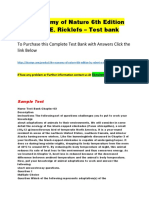 The Economy of Nature 6th Edition by Robert E. Ricklefs – Test Bank