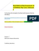 The Legal and Ethical Environment of Business 3rd Edition by Lisa Johnson – Test Bank