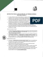 INSTRUCTIVO PARA LA APLICACION DE PUEBAS RAPIDAS 2