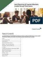 Credit Suisse IBCM Summer Associate Group Overviews