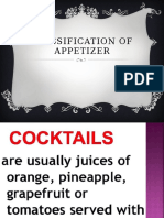 Classification of Appetizer