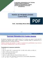 PRESENTACIÓN 4. Esperanza matemática, varianza, covarianza de una variable aleatoria, teorema de Tchebyshev..pdf
