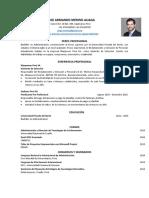 MODELO DE CV PARA EGRESADOS