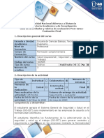 Guía de actividades y rúbrica de evaluación - Post-tarea - Evaluación Final